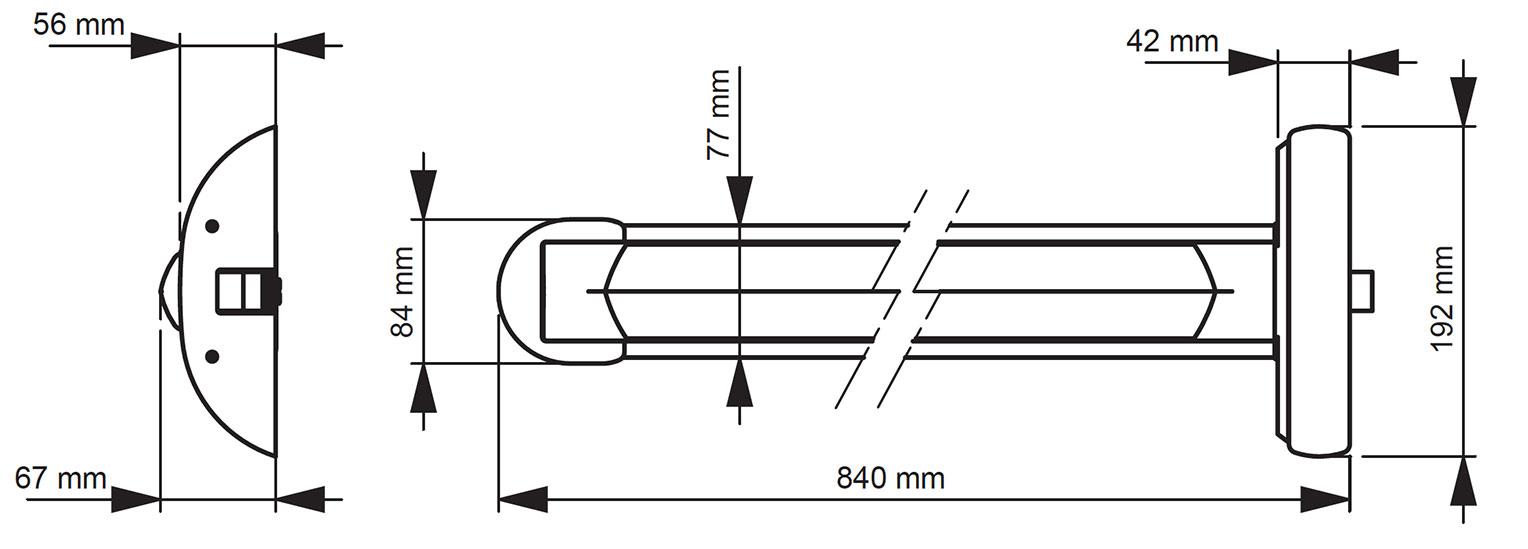 TP100 szerelési rajz
